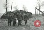 Image of captured British Mark IV heavy tank Cambrai France, 1917, second 23 stock footage video 65675061615