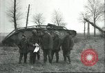 Image of captured British Mark IV heavy tank Cambrai France, 1917, second 24 stock footage video 65675061615
