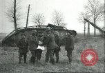 Image of captured British Mark IV heavy tank Cambrai France, 1917, second 25 stock footage video 65675061615
