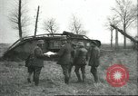 Image of captured British Mark IV heavy tank Cambrai France, 1917, second 27 stock footage video 65675061615
