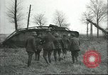 Image of captured British Mark IV heavy tank Cambrai France, 1917, second 28 stock footage video 65675061615