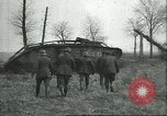 Image of captured British Mark IV heavy tank Cambrai France, 1917, second 29 stock footage video 65675061615