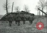 Image of captured British Mark IV heavy tank Cambrai France, 1917, second 30 stock footage video 65675061615