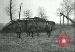 Image of captured British Mark IV heavy tank Cambrai France, 1917, second 31 stock footage video 65675061615