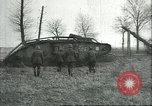 Image of captured British Mark IV heavy tank Cambrai France, 1917, second 32 stock footage video 65675061615