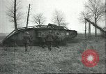 Image of captured British Mark IV heavy tank Cambrai France, 1917, second 33 stock footage video 65675061615