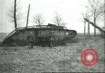 Image of captured British Mark IV heavy tank Cambrai France, 1917, second 34 stock footage video 65675061615