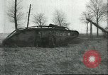 Image of captured British Mark IV heavy tank Cambrai France, 1917, second 36 stock footage video 65675061615