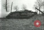 Image of captured British Mark IV heavy tank Cambrai France, 1917, second 37 stock footage video 65675061615