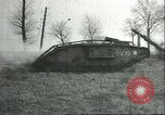 Image of captured British Mark IV heavy tank Cambrai France, 1917, second 38 stock footage video 65675061615