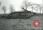Image of captured British Mark IV heavy tank Cambrai France, 1917, second 41 stock footage video 65675061615