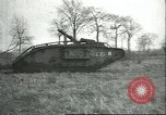 Image of captured British Mark IV heavy tank Cambrai France, 1917, second 42 stock footage video 65675061615