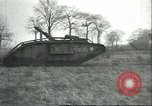 Image of captured British Mark IV heavy tank Cambrai France, 1917, second 43 stock footage video 65675061615