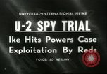 Image of U-2 aircraft Spy Trials Moscow Russia Soviet Union, 1960, second 1 stock footage video 65675061725