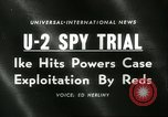 Image of U-2 aircraft Spy Trials Moscow Russia Soviet Union, 1960, second 3 stock footage video 65675061725