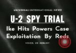 Image of U-2 aircraft Spy Trials Moscow Russia Soviet Union, 1960, second 5 stock footage video 65675061725