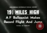 Image of Colonel Joseph Kittinger New Mexico United States USA, 1960, second 4 stock footage video 65675061726