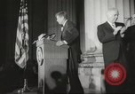 Image of President John F Kennedy awards handicapped man Massachusetts United States USA, 1963, second 13 stock footage video 65675061766