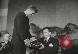 Image of President John F Kennedy awards handicapped man Massachusetts United States USA, 1963, second 27 stock footage video 65675061766