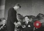 Image of President John F Kennedy awards handicapped man Massachusetts United States USA, 1963, second 28 stock footage video 65675061766