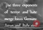 Image of Three Power Pact Germany, 1942, second 3 stock footage video 65675061830