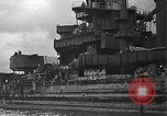 Image of Salvage and repair of the USS California (BB-44) Pearl Harbor Hawaii USA, 1942, second 16 stock footage video 65675061840