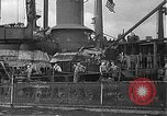 Image of Salvage and repair of the USS California (BB-44) Pearl Harbor Hawaii USA, 1942, second 49 stock footage video 65675061840