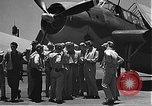 Image of Douglas SBD Dauntless aircraft start and taxi Pearl Harbor Hawaii USA, 1942, second 2 stock footage video 65675061841