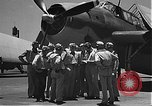 Image of Douglas SBD Dauntless aircraft start and taxi Pearl Harbor Hawaii USA, 1942, second 3 stock footage video 65675061841