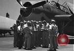 Image of Douglas SBD Dauntless aircraft start and taxi Pearl Harbor Hawaii USA, 1942, second 6 stock footage video 65675061841