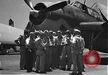 Image of Douglas SBD Dauntless aircraft start and taxi Pearl Harbor Hawaii USA, 1942, second 7 stock footage video 65675061841
