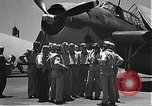Image of Douglas SBD Dauntless aircraft start and taxi Pearl Harbor Hawaii USA, 1942, second 8 stock footage video 65675061841