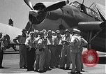 Image of Douglas SBD Dauntless aircraft start and taxi Pearl Harbor Hawaii USA, 1942, second 9 stock footage video 65675061841