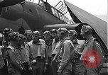 Image of Douglas SBD Dauntless aircraft start and taxi Pearl Harbor Hawaii USA, 1942, second 21 stock footage video 65675061841