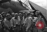 Image of Douglas SBD Dauntless aircraft start and taxi Pearl Harbor Hawaii USA, 1942, second 22 stock footage video 65675061841