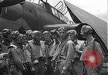 Image of Douglas SBD Dauntless aircraft start and taxi Pearl Harbor Hawaii USA, 1942, second 25 stock footage video 65675061841