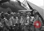Image of Douglas SBD Dauntless aircraft start and taxi Pearl Harbor Hawaii USA, 1942, second 26 stock footage video 65675061841