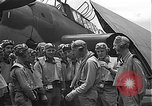 Image of Douglas SBD Dauntless aircraft start and taxi Pearl Harbor Hawaii USA, 1942, second 27 stock footage video 65675061841