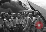 Image of Douglas SBD Dauntless aircraft start and taxi Pearl Harbor Hawaii USA, 1942, second 28 stock footage video 65675061841