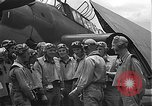 Image of Douglas SBD Dauntless aircraft start and taxi Pearl Harbor Hawaii USA, 1942, second 29 stock footage video 65675061841