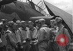 Image of Douglas SBD Dauntless aircraft start and taxi Pearl Harbor Hawaii USA, 1942, second 30 stock footage video 65675061841