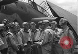 Image of Douglas SBD Dauntless aircraft start and taxi Pearl Harbor Hawaii USA, 1942, second 31 stock footage video 65675061841