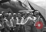 Image of Douglas SBD Dauntless aircraft start and taxi Pearl Harbor Hawaii USA, 1942, second 32 stock footage video 65675061841