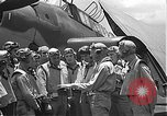 Image of Douglas SBD Dauntless aircraft start and taxi Pearl Harbor Hawaii USA, 1942, second 33 stock footage video 65675061841
