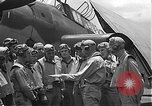 Image of Douglas SBD Dauntless aircraft start and taxi Pearl Harbor Hawaii USA, 1942, second 34 stock footage video 65675061841