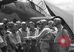 Image of Douglas SBD Dauntless aircraft start and taxi Pearl Harbor Hawaii USA, 1942, second 35 stock footage video 65675061841
