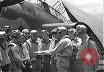 Image of Douglas SBD Dauntless aircraft start and taxi Pearl Harbor Hawaii USA, 1942, second 36 stock footage video 65675061841