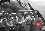 Image of Douglas SBD Dauntless aircraft start and taxi Pearl Harbor Hawaii USA, 1942, second 38 stock footage video 65675061841