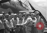Image of Douglas SBD Dauntless aircraft start and taxi Pearl Harbor Hawaii USA, 1942, second 39 stock footage video 65675061841