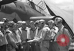 Image of Douglas SBD Dauntless aircraft start and taxi Pearl Harbor Hawaii USA, 1942, second 40 stock footage video 65675061841